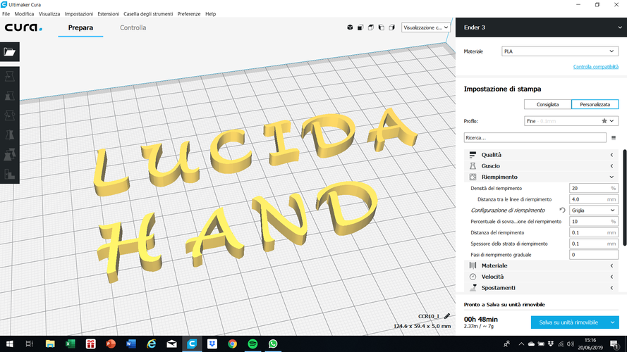 LUCIDA HANDWRITING font uppercase 3D letters STL file 3D Print 248092