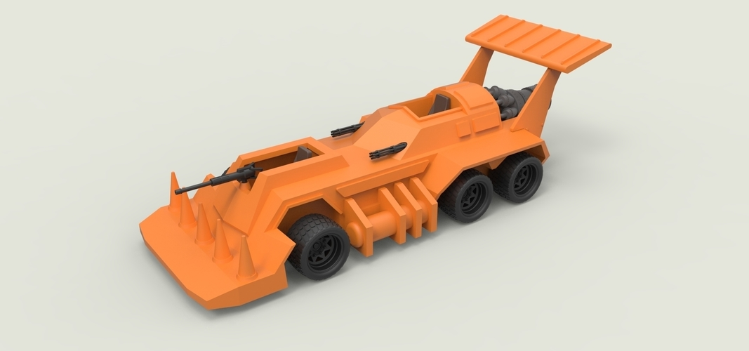 Diecast model Eliminator from the game Thunder Road Scale 1:43 3D Print 248098