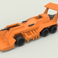 Small Diecast model Eliminator from the game Thunder Road Scale 1:43 3D Printing 248098