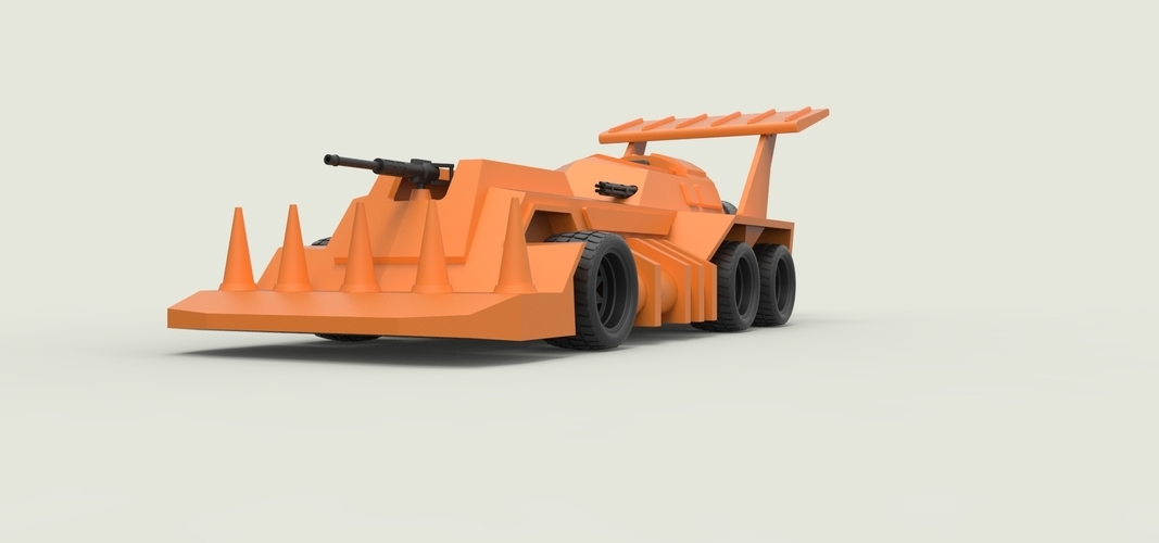 Diecast model Eliminator from the game Thunder Road Scale 1:43 3D Print 248101