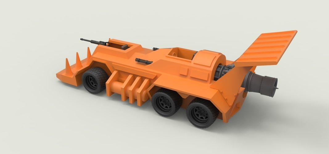 Diecast model Eliminator from the game Thunder Road Scale 1:43 3D Print 248107
