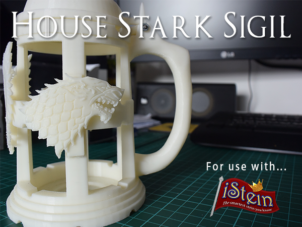 Medium iStein - House Stark Sigil (GoT) 3D Printing 24814