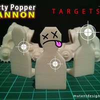 Small Cannon Fodder - Party Popper Cannon 3D Printing 24817