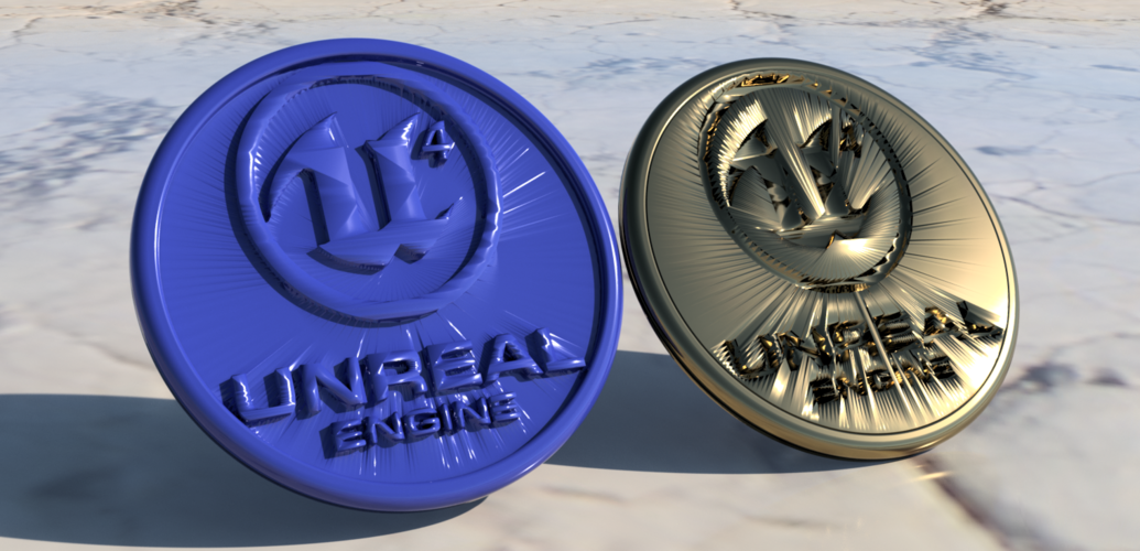 Unreal Engine 4 coaster (pair) 3D Print 248202
