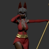 Small Anubis sexy  girl  3D Printing 248214