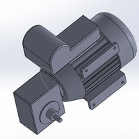 Small AC motor with reduction gearbox 3D Printing 248268