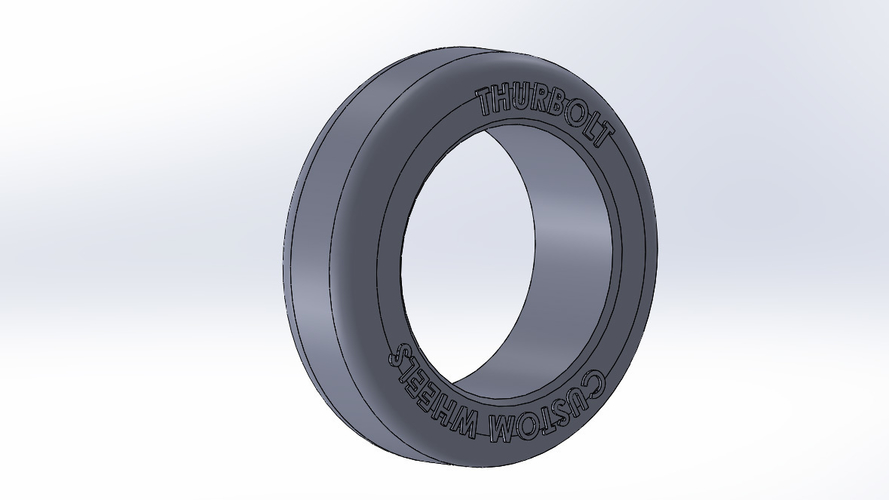 Thurbolt custom tire & rim 1 3D Print 248294