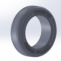 Small Thurbolt custom tire & rim 1 3D Printing 248294