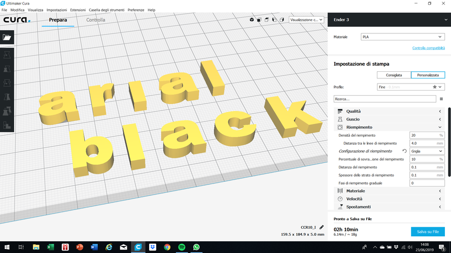 ARIAL BLACK font uppercase and lowercase 3D letters STL file 3D Print 248380