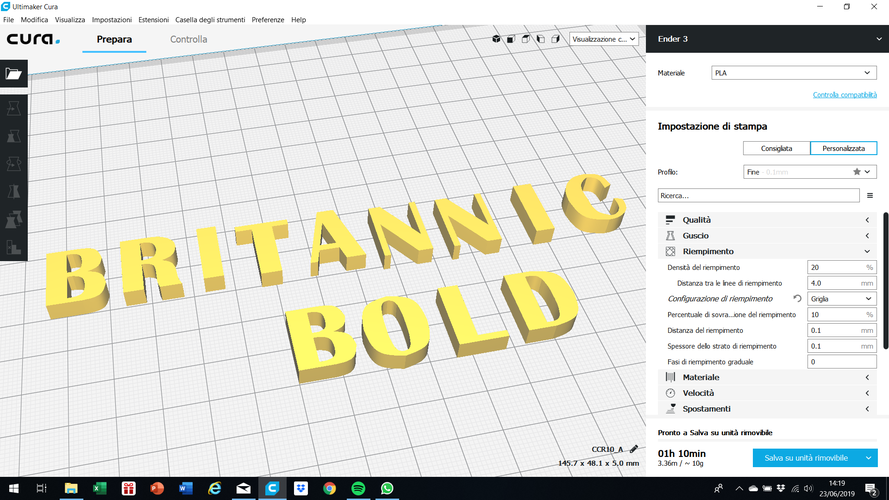 BRITANNIC BOLD font uppercase and lowercase 3D letters STL file 3D Print 248392