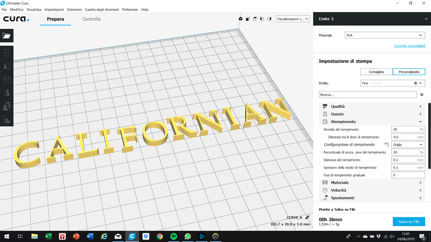 CALIFORNIAN font uppercase and lowercase 3D letters STL file 3D Print 248398