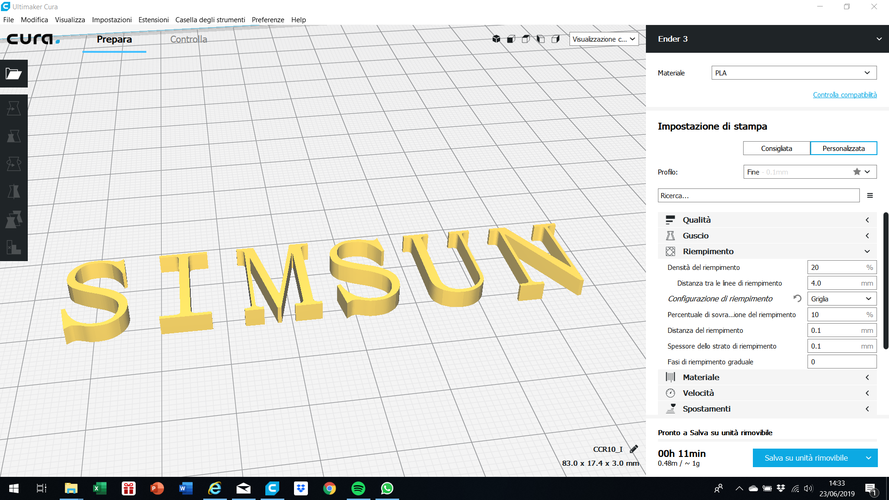 SIMSUN font uppercase and lowercase 3D letters STL file 3D Print 248415