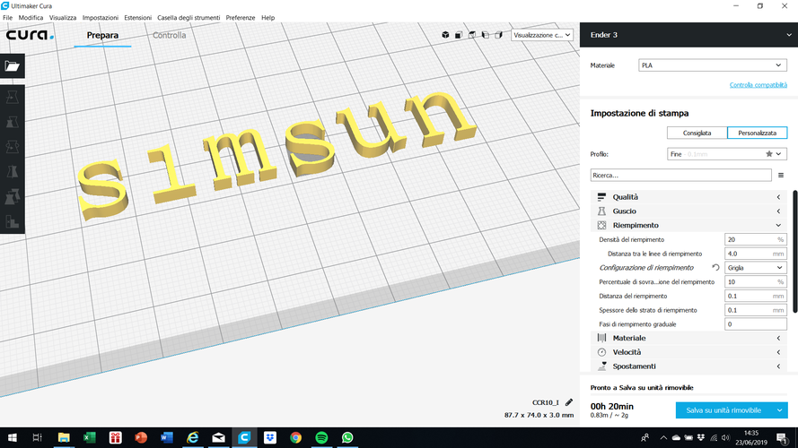 SIMSUN font uppercase and lowercase 3D letters STL file 3D Print 248418