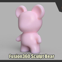 Small Fusion360 Sculpt Bear 3D Printing 248456