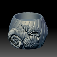 Small Seashell Candle 3D Printing 248467