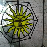 Small Sun Stained Glass 3D Printing 24858