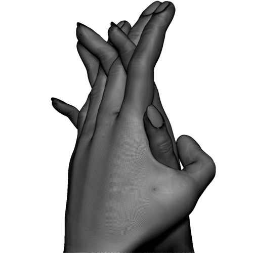 Hands couple in love 3D Print 248581
