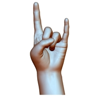 Small Hard rock hand gesture male 3D Printing 248603