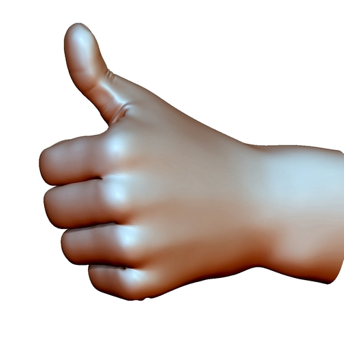 Thumb up hand sign gesture male 3D Print 248659