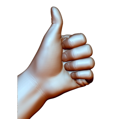 Thumb up hand sign gesture male 3D Print 248663