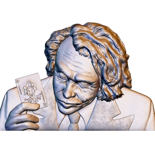 Joker 3d model bas relief -  for cnc router or 3D printing 3D Print 248701