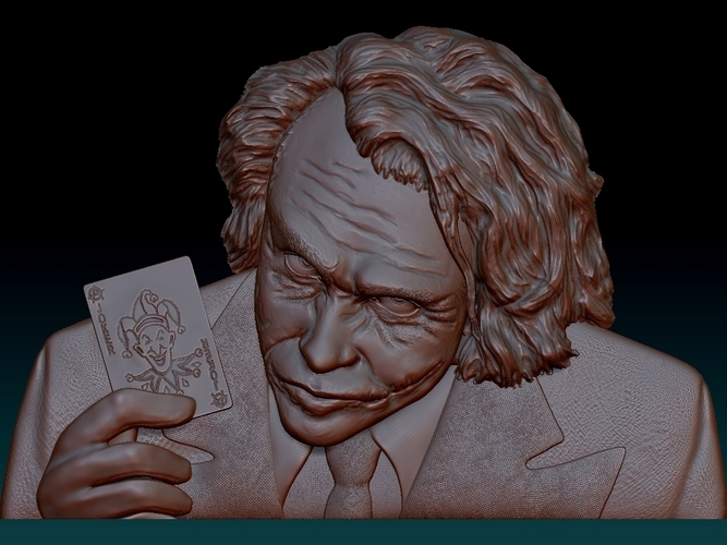 Joker 3d model bas relief -  for cnc router or 3D printing 3D Print 248702