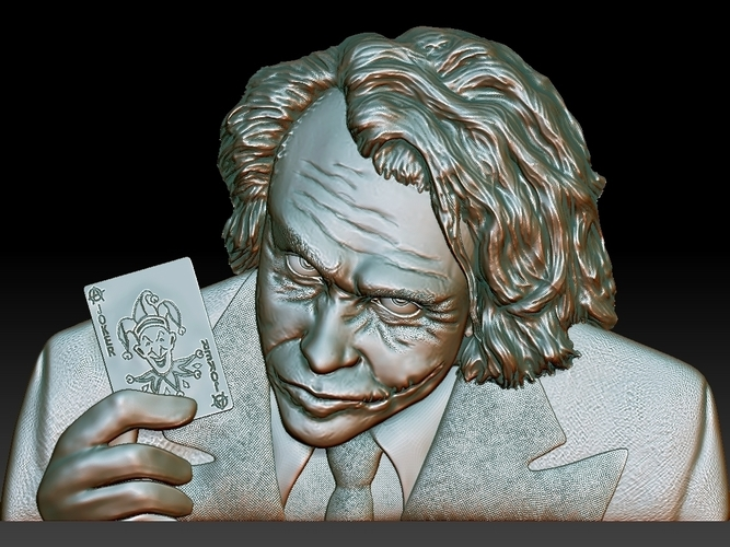 Joker 3d model bas relief -  for cnc router or 3D printing 3D Print 248703