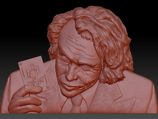 Joker 3d model bas relief -  for cnc router or 3D printing 3D Print 248704