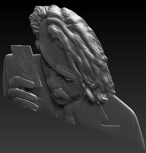 Joker 3d model bas relief -  for cnc router or 3D printing 3D Print 248705