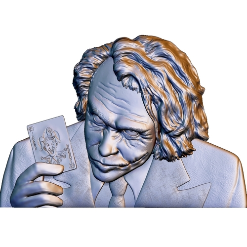 Joker 3d model bas relief -  for cnc router or 3D printing 3D Print 248707
