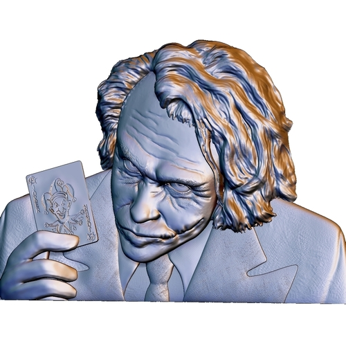 Joker 3d model bas relief -  for cnc router or 3D printing 3D Print 248708