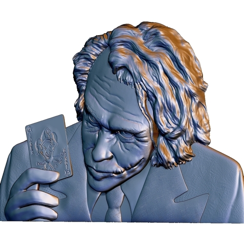 Joker 3d model bas relief -  for cnc router or 3D printing 3D Print 248709