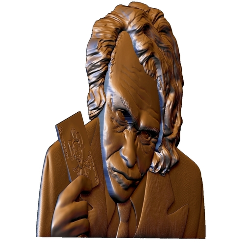 Joker 3d model bas relief -  for cnc router or 3D printing 3D Print 248710