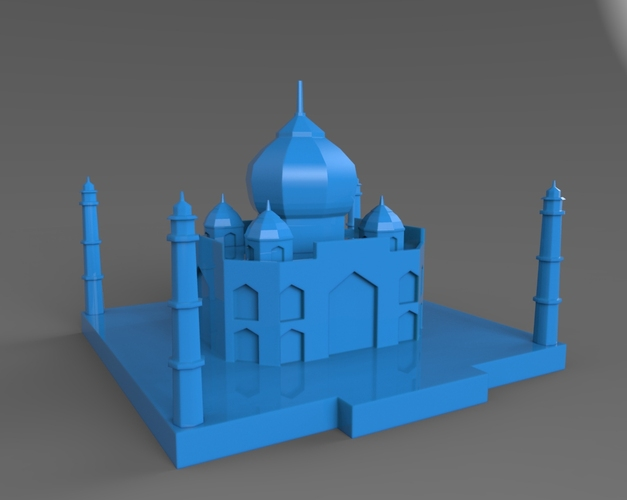 Taj Mahal Low Poly 3D Print 24885