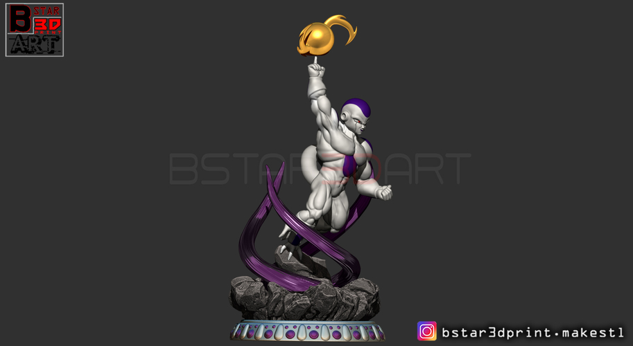 Super Frieza fighting from Dragon Ball Z 3D print model 3D Print 248866