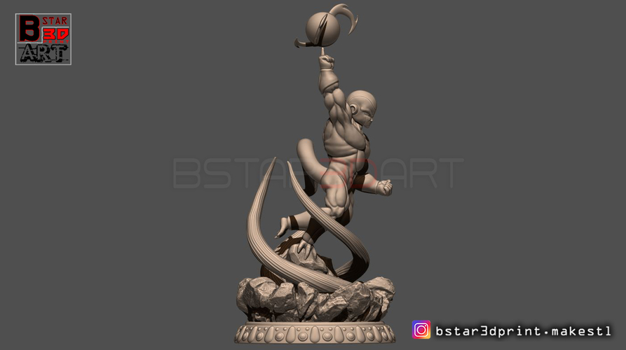 Super Frieza fighting from Dragon Ball Z 3D print model 3D Print 248868
