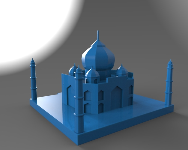 Taj Mahal Low Poly 3D Print 24888