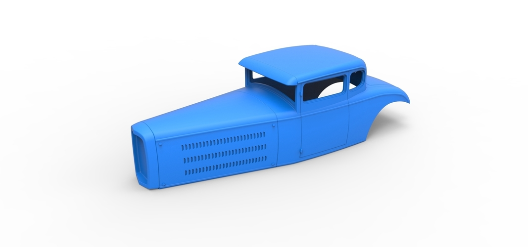 Diecast shell model for Hot rod Scale 1 to 24 3D Print 248880