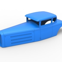 Small Diecast shell model for Hot rod Scale 1 to 24 3D Printing 248880