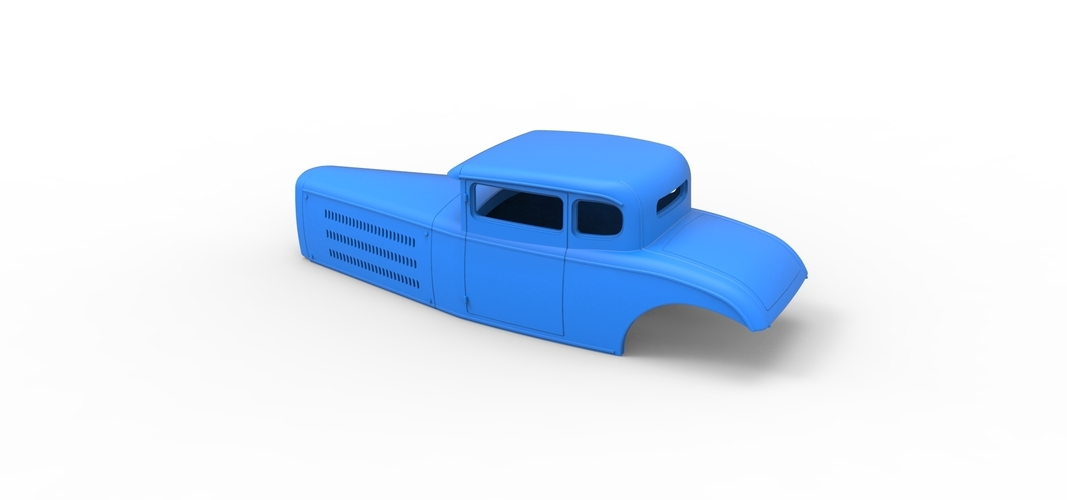 Diecast shell model for Hot rod Scale 1 to 24 3D Print 248889