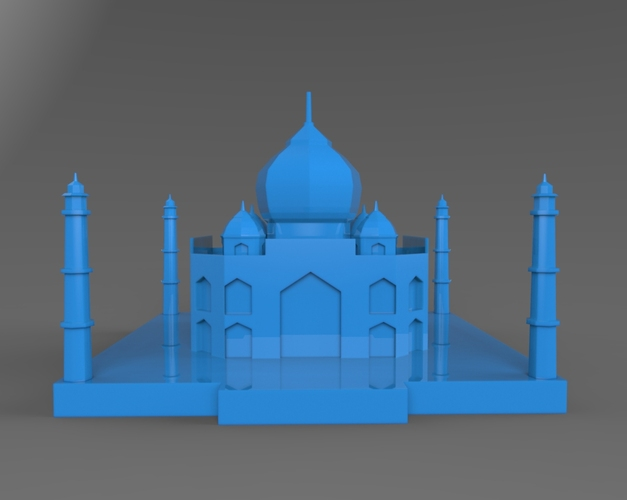 Taj Mahal Low Poly 3D Print 24889