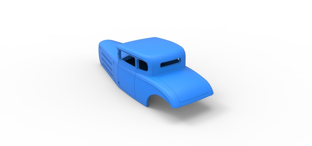 Diecast shell model for Hot rod Scale 1 to 24 3D Print 248890