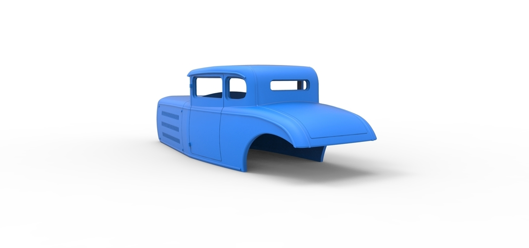 Diecast shell model for Hot rod Scale 1 to 24 3D Print 248891