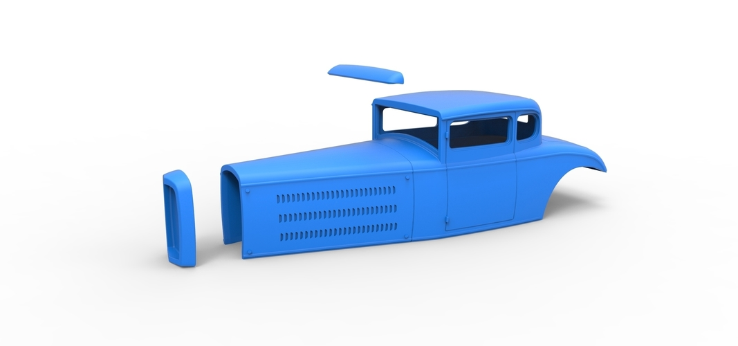 Diecast shell model for Hot rod Scale 1 to 24 3D Print 248895