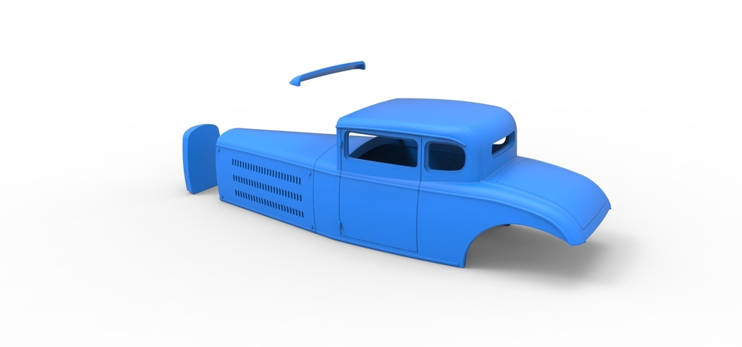 Diecast shell model for Hot rod Scale 1 to 24 3D Print 248896