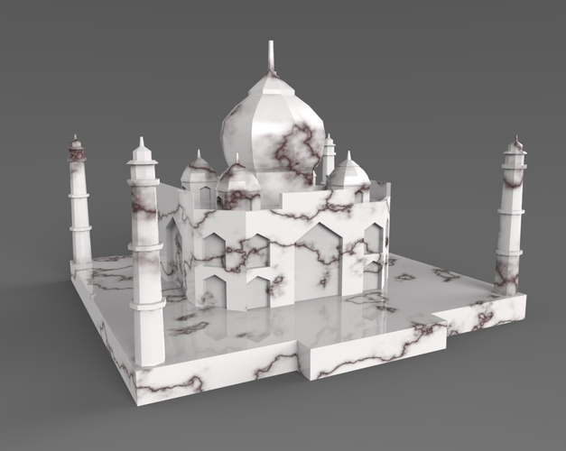 Taj Mahal Low Poly 3D Print 24891