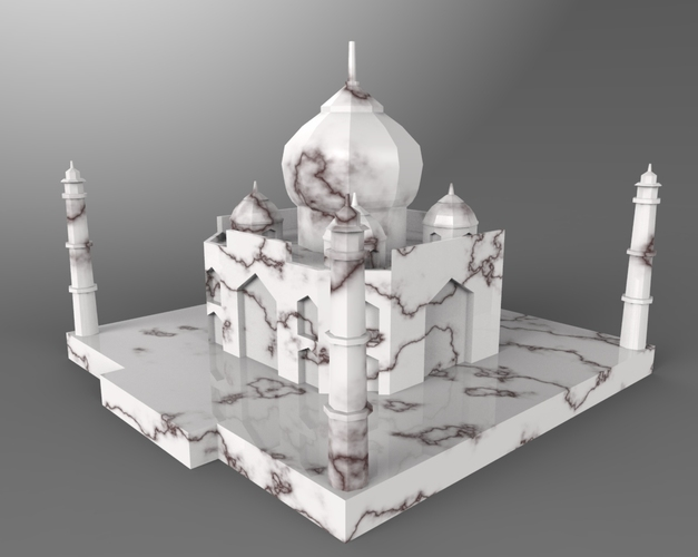 Taj Mahal Low Poly 3D Print 24892