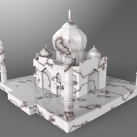 Small Taj Mahal Low Poly 3D Printing 24892