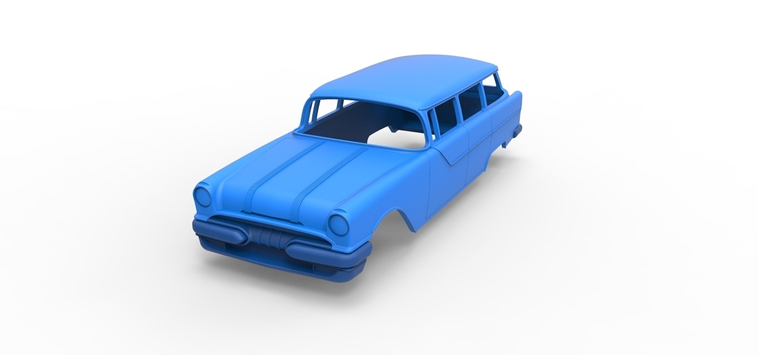 Diecast shell Pontiac Chieftain 1955 Scale 1 to 24 3D Print 249001