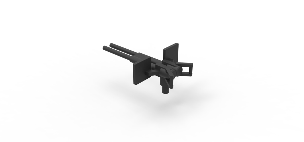 Diecast model Gun machine Scale 1 to 24 3D Print 249050
